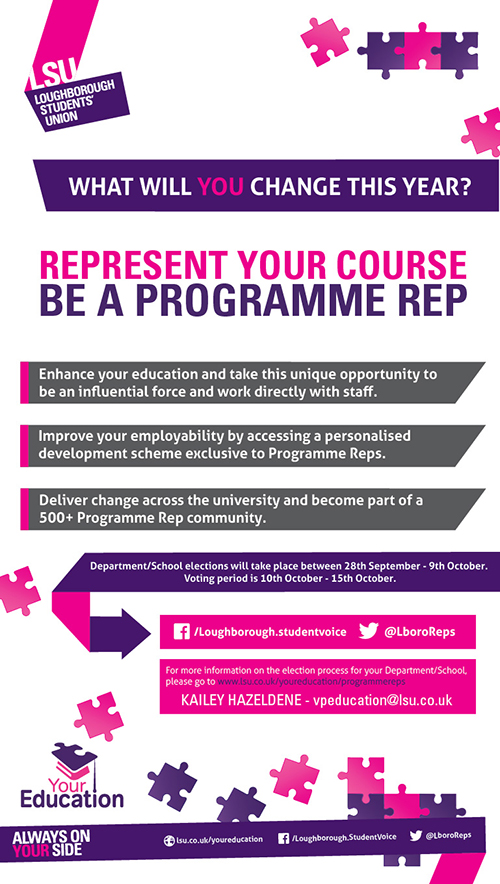 Represent your course - be a Programme Rep