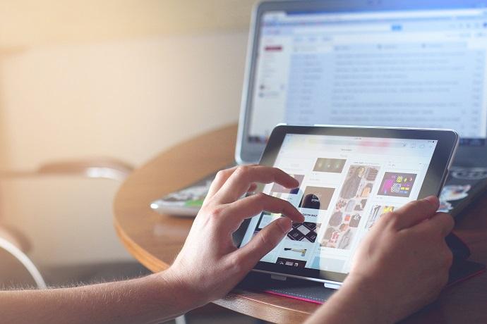 iPad in use