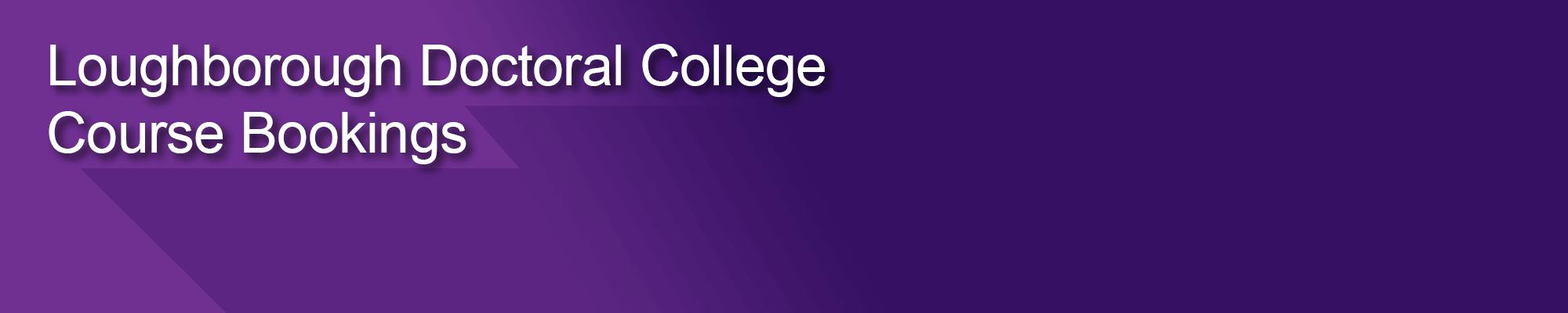 Graduate School Course Booking header